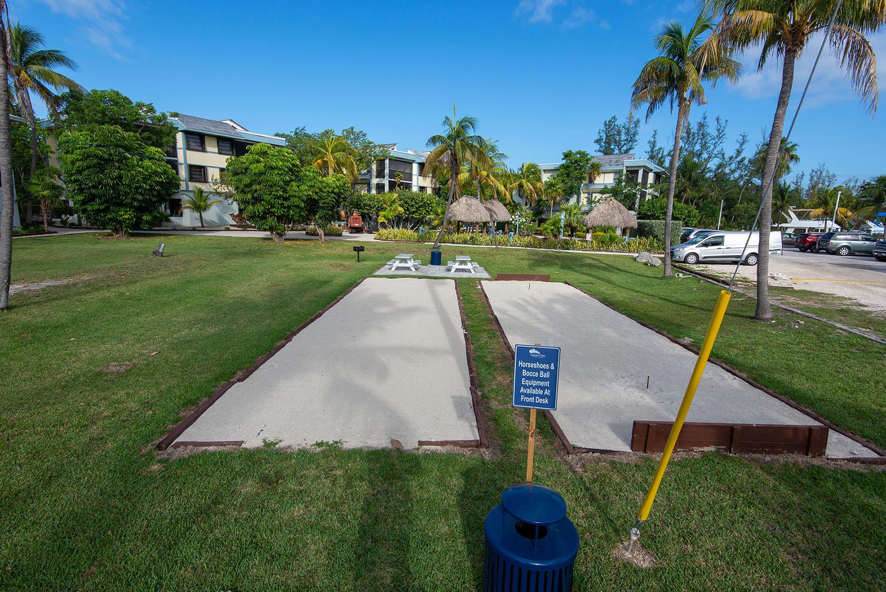 Marathon Key Beach Club shuffle board