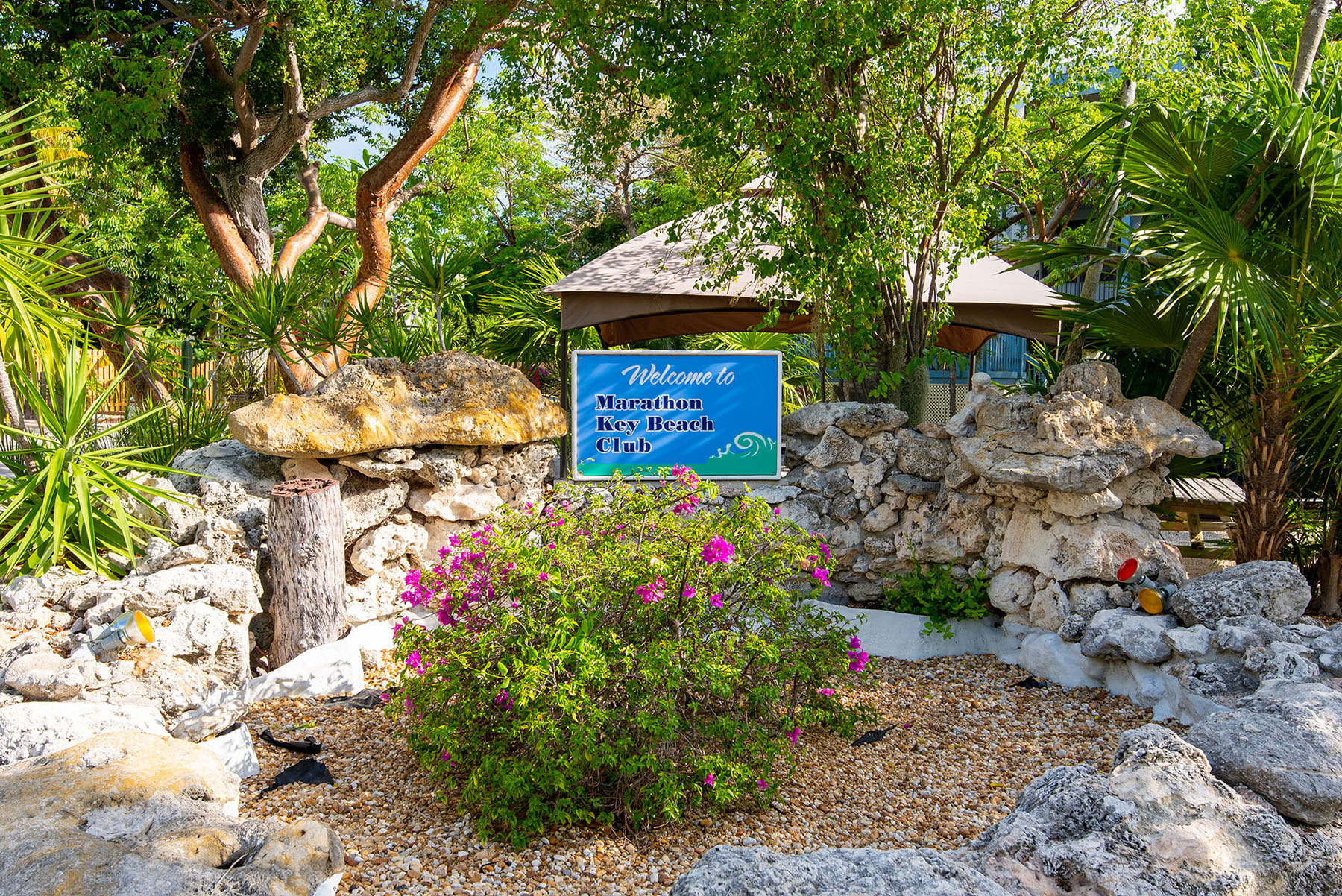 Marathon Key Beach Club resort welcome sign