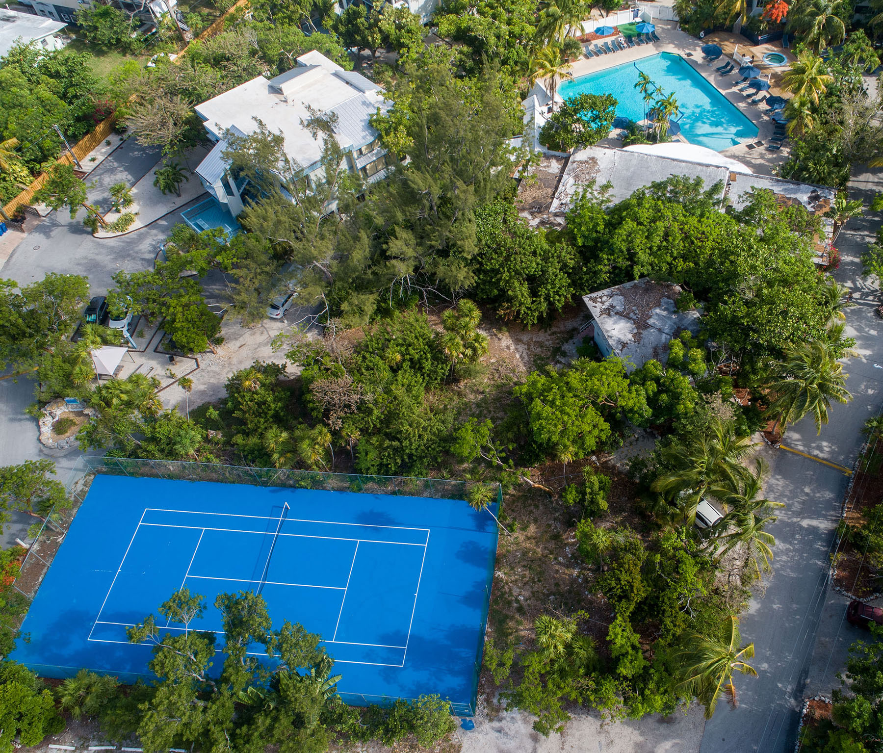 Marathon Key Beach Club Aerial tennis