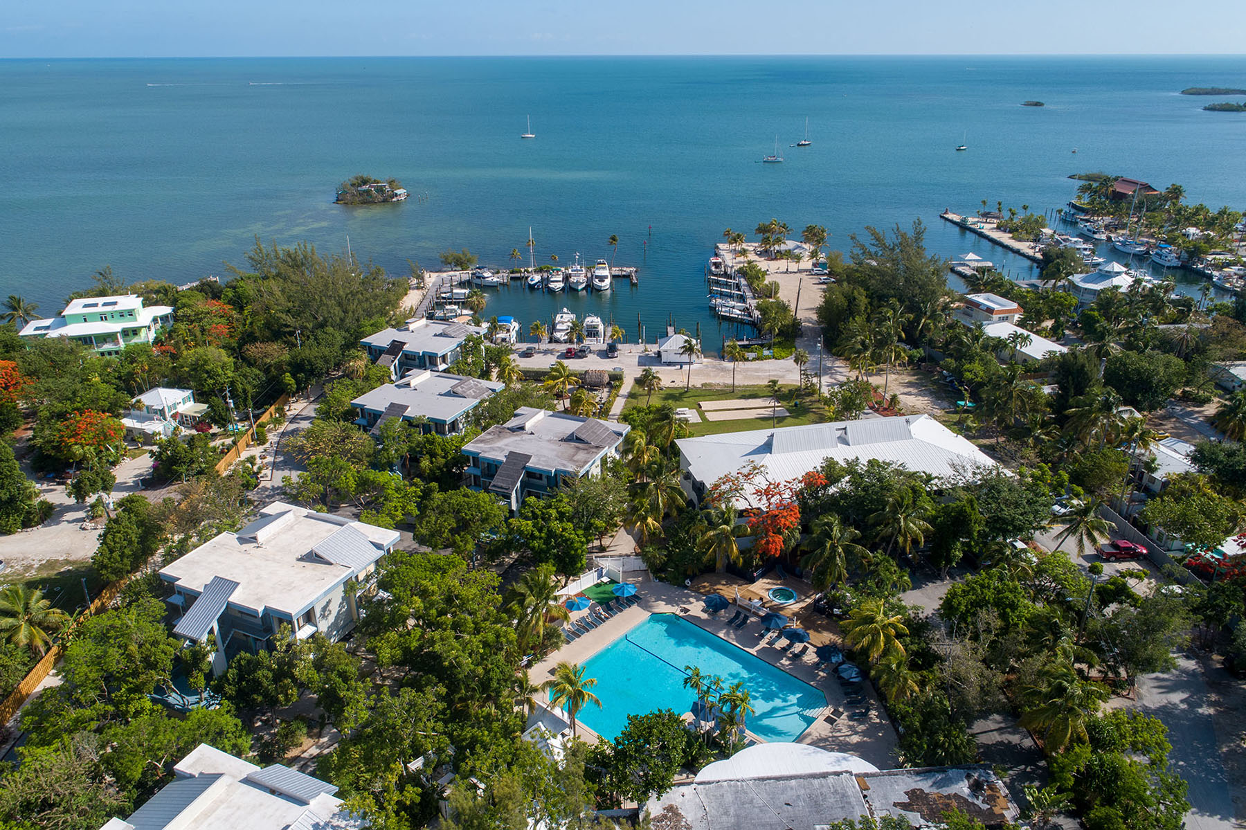 Marathon Key Beach Club Aerial