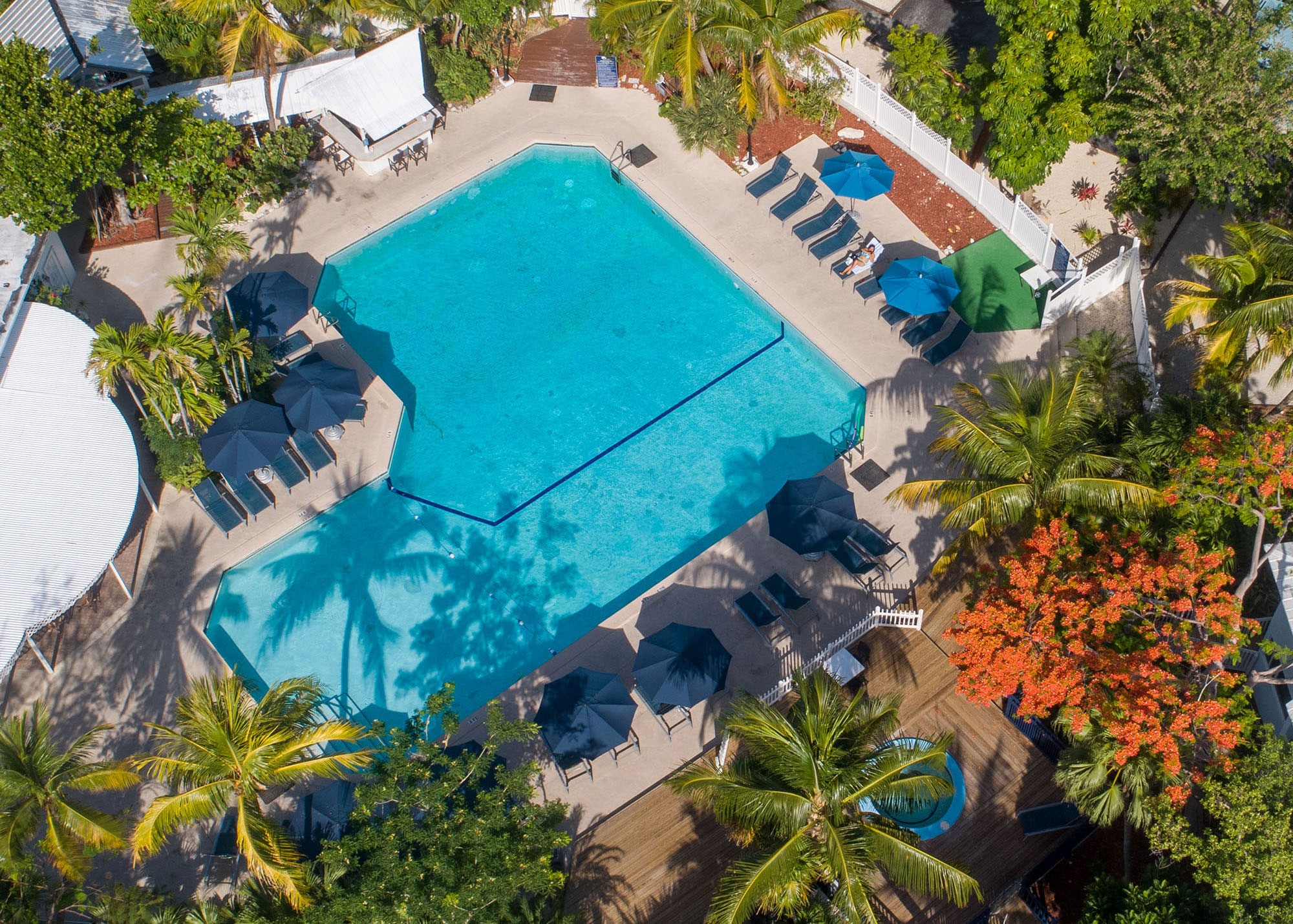 Marathon Key Beach Club Aerial pool