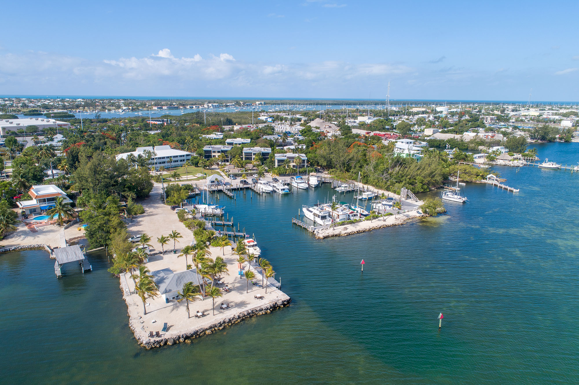Marathon Key Beach Club Aerial back